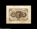 Fractional Currency:Experimentals, Proofs and Essays, Milton 1P5F.1F 5¢ First Issue Proof New. Printed from the completedplate (double frame line removed) in brown ink on thin, ...