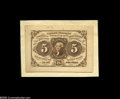 Fractional Currency:Experimentals, Proofs and Essays, Milton 1E5F.4a 5¢ First Issue Essay Choice New. Printed from thefinished plate with the single frame line, but printed on c...