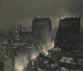 Photographs, Paul Burty Haviland (American, 1880-1950). New York at Night (two views), 1914. Photogravure. 6-1/8 x 7-1/8 inches (15.6... (Total: 2 Items)