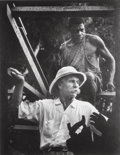 Photographs, W. Eugene Smith (American, 1918-1978). Dr. Albert Schweitzer Marking Timbers During Construction Project, Africa, from A M...
