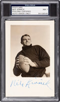 Football Collectibles:Others, Circa 1939 Nile Kinnick Signed Real Photograph Postcard, PSA/DNA NM 7....