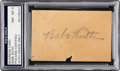 Autographs:Others, 1930's Babe Ruth Signed Business Card, PSA NM-MT 8....