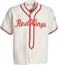 Baseball Collectibles:Uniforms, 1948 Minor League/Industrial League Game Worn Red Wings Jersey & Pants....