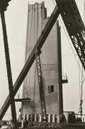 Photographs, Peter Stackpole (American, 1913-1997). Hoisting a Cable Spool, San Francisco; Untitled; Oakland Bay Bridge, (three w... (Total: 3 Items)