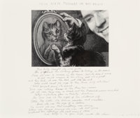Duane Michals (American, b. 1932) Miss Kitty Thought She was Pretty, 1989 Gelatin silver 7 x 9-1/
