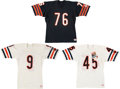 Football Collectibles:Uniforms, Mid 1980's Steve McMichael, Gary Fencik and Jim McMahon Game Issued/Authentic Model Chicago Bears Jerseys (3)....