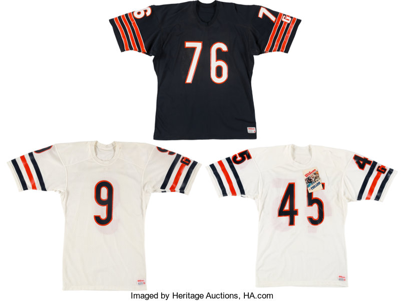 9f591a51626 ... Football Collectibles:Uniforms, Mid 1980's Steve McMichael, Gary Fencik  and Jim McMahon GameIssued ...