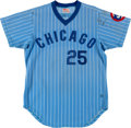Baseball Collectibles:Uniforms, 1980 Scot Thompson Game Worn Chicago Cubs Jersey. ...
