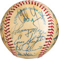 Baseball Collectibles:Balls, 1949 New York Yankees Team Signed Baseball (Reunion) with Others. ...