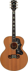 Musical Instruments:Acoustic Guitars, 2002 Gibson J-200 Elite Natural Acoustic Electric Guitar, Serial # 00422002....
