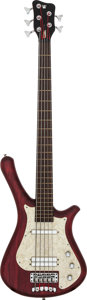 Musical Instruments:Bass Guitars, Circa 2001 Warwick Fortress Flashback-5 Cherry Electric Bass Guitar, Serial # G086374-01....