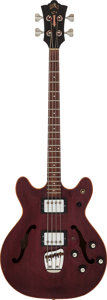 Musical Instruments:Bass Guitars, 1975 Guild SFB-2-CH Cherry Electric Bass Guitar, Serial # 127582....
