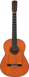 Musical Instruments:Acoustic Guitars, Tommy Tedesco's 1964 Ramirez Natural Classical Guitar....