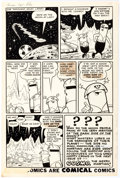 Original Comic Art:Panel Pages, Bob White Cosmo the Merry Martian #s 1-2 Near-Complete StoryOriginal Art Group of 26 (Archie Comics, 1958).... (Total: 26Original Art)