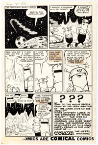 Bob White Cosmo the Merry Martian #s 1-2 Near-Complete Story Original Art Group of 26 (Archie Comics, 1958).... (Total:...