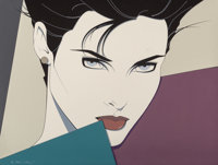 Patrick Nagel (American, 1945-1984) Untitled, 1983 Acrylic on canvas 27 x 36 in. Signed and da