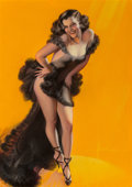 Other, Rolf Armstrong (American, 1889-1960). Encore, Brown & Bigelow calendar illustration, 1941. Pastel on paper laid on Mason...