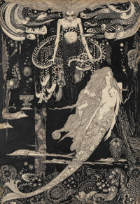 Harry Clarke (Irish, 1889-1931) The Little Sea Maid, Fairy Tales by Hans Christian Andersen interior illustrati