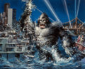 Mainstream Illustration, John Conrad Berkey (American, 1932-2008). King Kong originalmovie poster artwork, 1976. Gouache on board. 18.5 x 22.5. ...