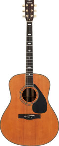 Musical Instruments:Acoustic Guitars, Tommy Tedesco's Circa 1980's Yamaha L-25AT Natural Acoustic Guitar,Serial # 1008200....