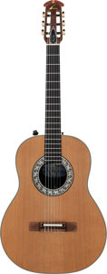Musical Instruments:Acoustic Guitars, Tommy Tedesco's Circa 1970's Ovation 1613 Natural Classical Guitar, Serial # 236584....