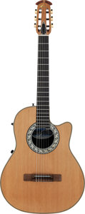 Musical Instruments:Acoustic Guitars, Tommy Tedesco's Circa 1970's Ovation M-763 Natural ClassicalGuitar, Serial # 354361....