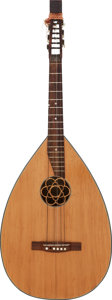 Musical Instruments:Miscellaneous, Tommy Tedesco's Cira 1950's Natural 6-String Lute Style Instrument, Serial # 33755....