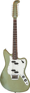 Musical Instruments:Electric Guitars, 1966 Fender Electric XII Ice Blue Solid Body Electric Guitar,Serial # 120640....