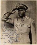 Boxing Collectibles:Autographs, 1940's Sugar Ray Robinson Signed Photograph, PSA/DNA NM-MT 8....