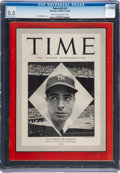 Baseball Collectibles:Publications, 1948 Joe DiMaggio TIME Magazine, CGC 8.0 - Two Higher.... (Total: 9item)