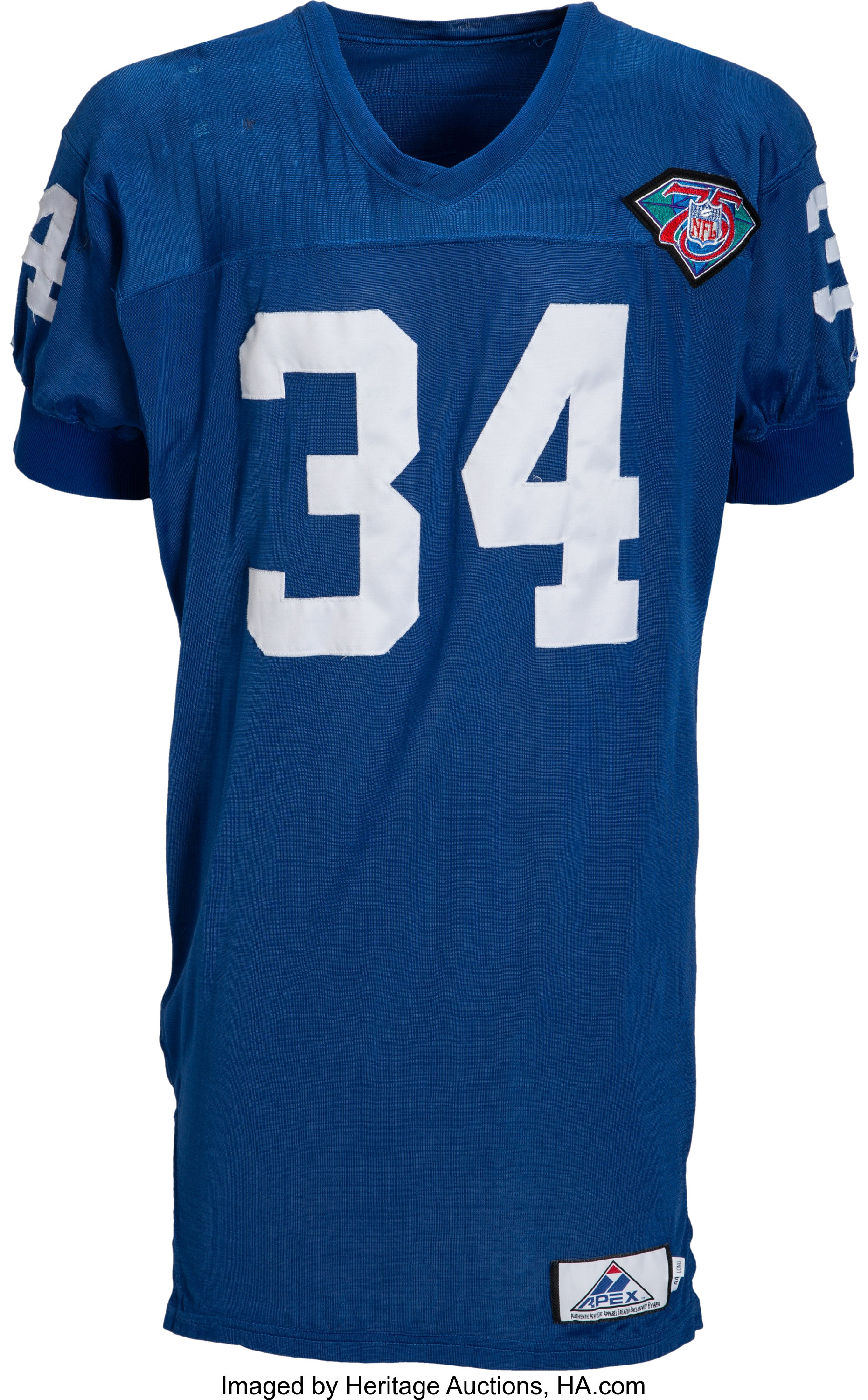 new concept b4a7e c4a71 1994 Gary Downs Game Worn New York Giants Throwback Jersey ...