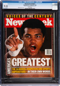 Boxing Collectibles:Memorabilia, 1999 Muhammad Ali Newsweek Magazine CGC 9.8 - Highest Graded. ...