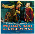 "Movie Posters:Western, The Desert Man (S.A. Lynch, 1917). Six Sheet (82"" X 82"").. ..."