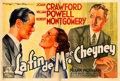 Movie Posters:Crime, The Last of Mrs. Cheyney (MGM, 1937). Horizontal F...