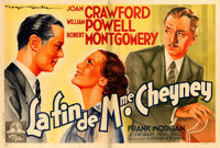 """The Last of Mrs. Cheyney (MGM, 1937). Horizontal French Double Grande (60.5"""" X 89"""") Roger Soubie Artwork"""