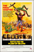 "Movie Posters:Science Fiction, Battle for the Planet of the Apes (20th Century Fox, 1973). OneSheet (27"" X 41"") Robert Tanenbaum Artwork. Science Fiction...."