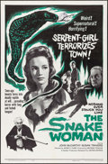 """Movie Posters:Horror, The Snake Woman (United Artists, 1961). One Sheet (27"""" X 41"""").Horror.. ..."""