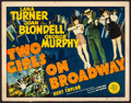"""Movie Posters:Musical, Two Girls on Broadway (MGM, 1940). Title Lobby Card (11"""" X 14"""").Musical.. ..."""