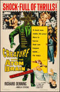 """Movie Posters:Horror, Creature with the Atom Brain (Columbia, 1955). One Sheet (27"""" X41""""). Horror.. ..."""