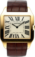 Timepieces:Wristwatch, Cartier, Santos-Dumont Ultra Thin, 18k RG Manual Wind, Circa . ...