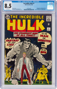 The Incredible Hulk #1 (Marvel, 1962) CGC VF+ 8.5 White pages