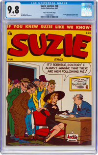 Suzie Comics #58 Mile High Pedigree (Archie, 1947) CGC NM/MT 9.8 White pages