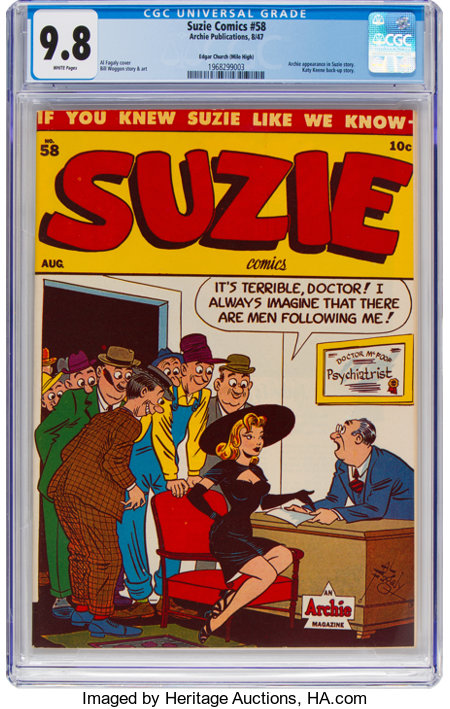 Suzie Comics #58 Mile High Pedigree (Archie, 1947) CGC NM/MT 9.8 White pages....