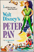 """Movie Posters:Animation, Peter Pan & Other Lot (Buena Vista, R-1969). One Sheet (27"""" X41"""") & Trimmed 30 X 40 Poster (25"""" X 39.5""""). Animation.. ...(Total: 2 Items)"""