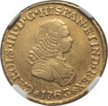 Colombia, Colombia: Charles III gold 2 Escudos 1763 PN-J XF40 NGC,...