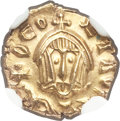 Ancients:Byzantine, Ancients: Theophilus (AD 829-842). AV tremissis (12mm, 1.16 gm,5h). NGC MS 5/5 - 4/5....