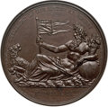 India:British India, India: British India. Settlement of British bronzed-copper Medal 1804 MS64 Brown NGC,...