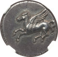 Ancients:Greek, Ancients: SICILY. Syracuse. Time of Timoleon, Third Democracy.(344-317 BC). AR stater (22mm, 8.49 gm, 10h). NGC Choice AU ★ 5/5 -...
