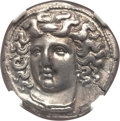 Ancients:Greek, Ancients: THESSALY. Larissa. Ca. 356-342 BC. AR drachm (19mm, 6.02gm, 6h).NGC AU 5/5 - 3/5 Fine Style, graffito....