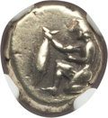 Ancients:Greek, Ancients: MYSIA. Cyzicus. Ca. 500-450 BC. EL sixth stater or hecte(9mm, 2.66 gm). NGC XF 4/5 - 4/5. ...